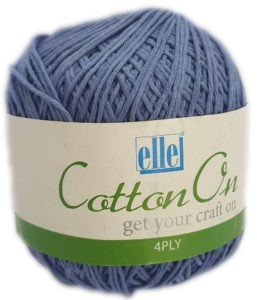 COTTON ON 4 PLY 100g-COL.750 BLUE 4