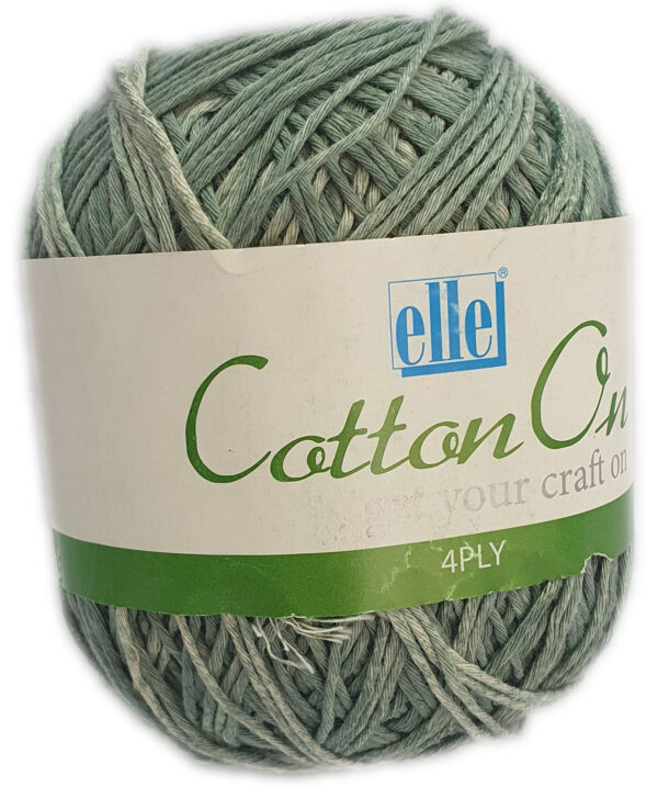 COTTON ON 4 PLY 100g-COL.802 FORREST GREEN 1