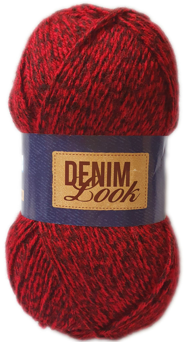 DENIM LOOK 100g-COL.040 RED DOOR 1