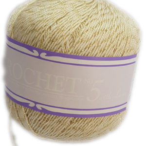 CROCHET No.5 WITH LUREX 50g-COL.014 GOLDY CREAM 13