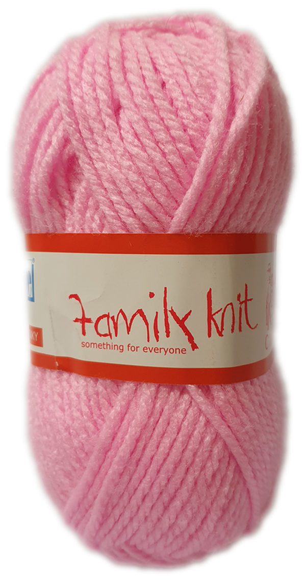 FAMILY KNIT CHUNKY 50g-COL.004 JUST PINK 1