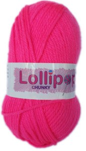 LOLLIPOP CHUNKY 100g-COL.02 BRIGHT PINK 4