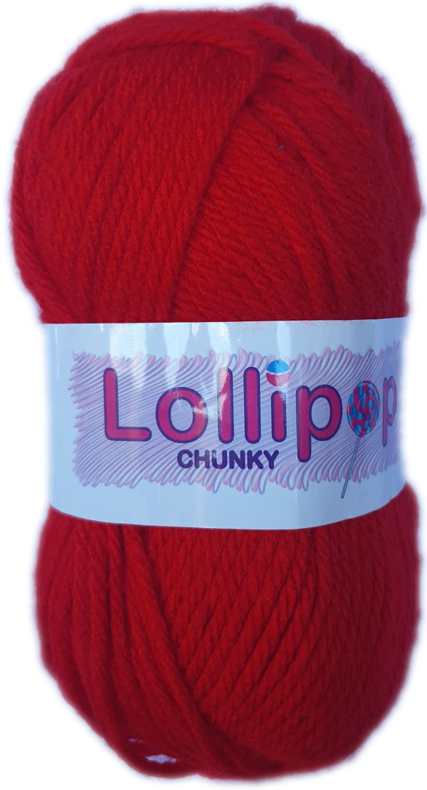 LOLLIPOP CHUNKY 100g-COL.13 RED 1