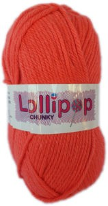 LOLLIPOP CHUNKY 100g-COL.37 CORAL 4