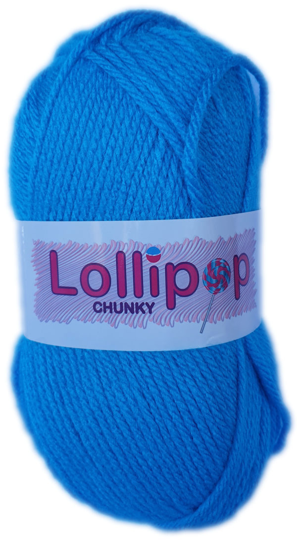 LOLLIPOP CHUNKY 100g-COL.39 TURQUOISE 1