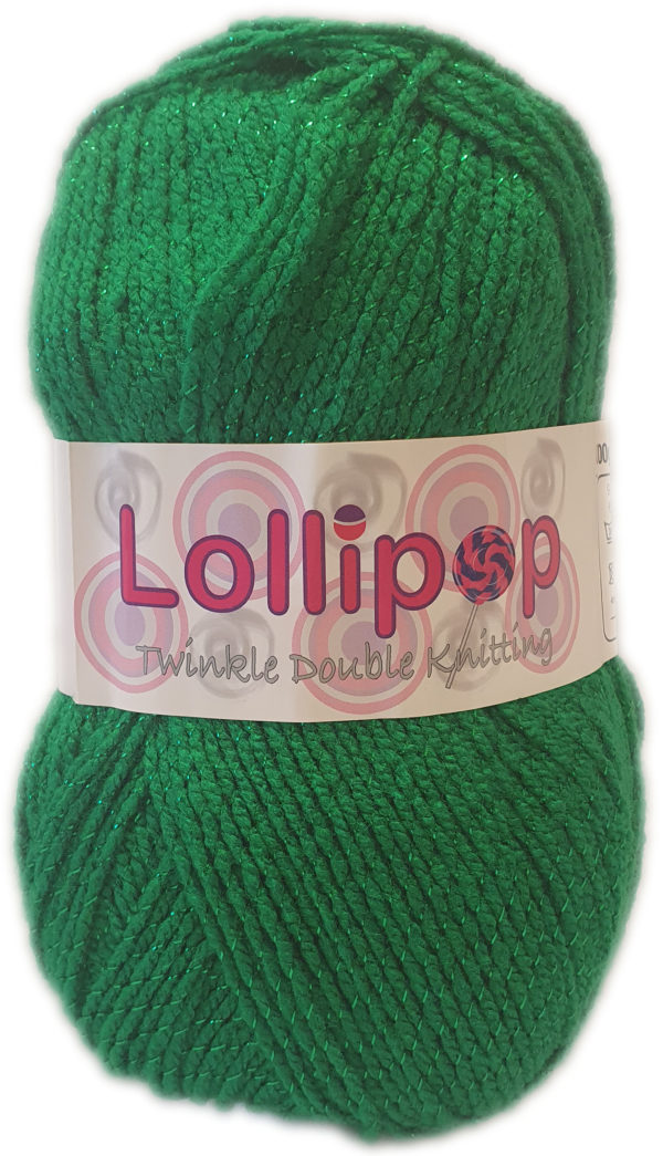 LOLLIPOP D.K TWINKLE 100g-COL.08 EMERALD GREEN 1