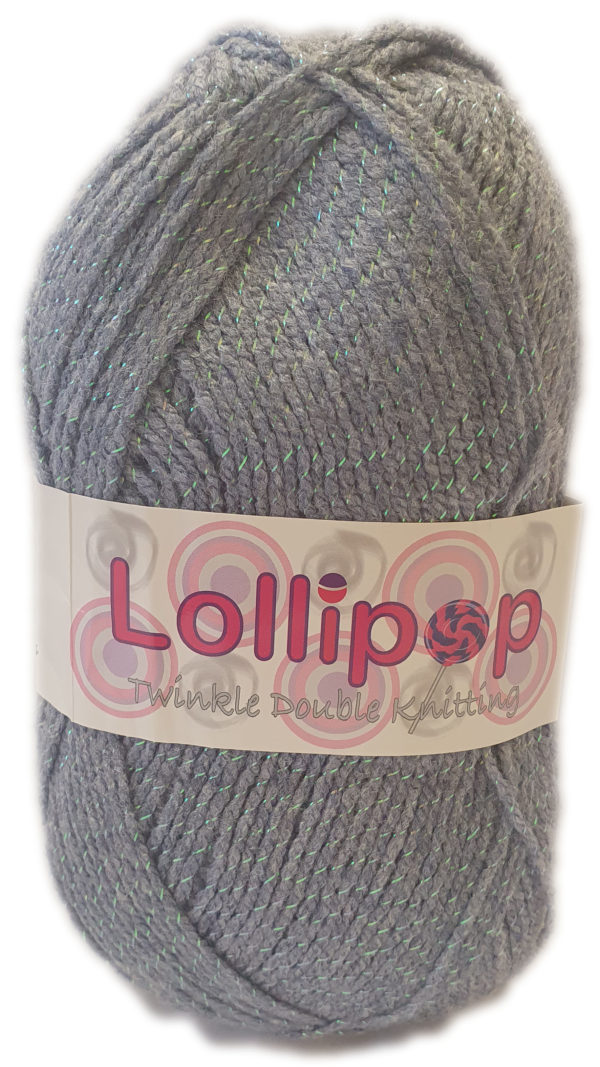 LOLLIPOP D.K TWINKLE 100g-COL.49 MELANGE DENIM 1