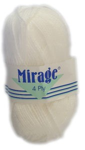 MIRAGE 4 PLY 25g-COL.001 WHITE 4