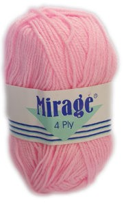 MIRAGE 4 PLY 25g-COL.004 BRIGHT PINK 4