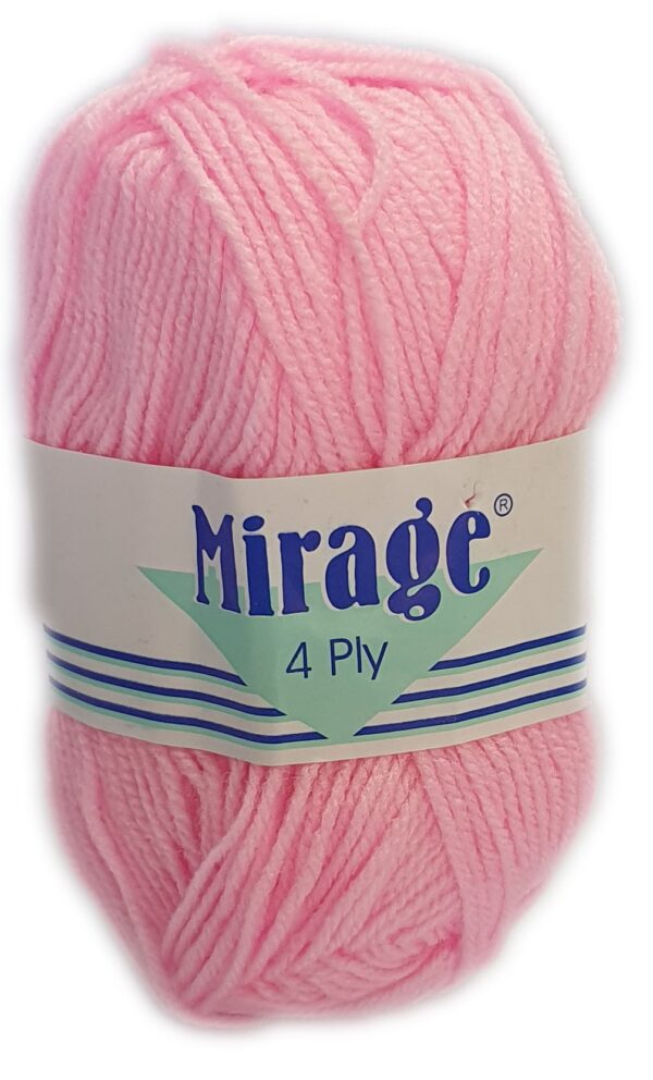 MIRAGE 4 PLY 25g-COL.004 BRIGHT PINK 1