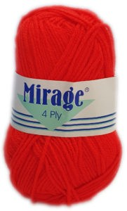 MIRAGE 4 PLY 25g-COL.009 RED 4