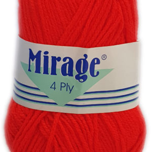 MIRAGE 4 PLY 25g-COL.009 RED 7