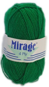 MIRAGE 4 PLY 25g-COL.022 EMERALD GREEN 4