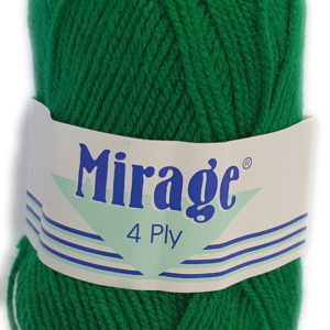 MIRAGE 4 PLY 25g-COL.022 EMERALD GREEN 12