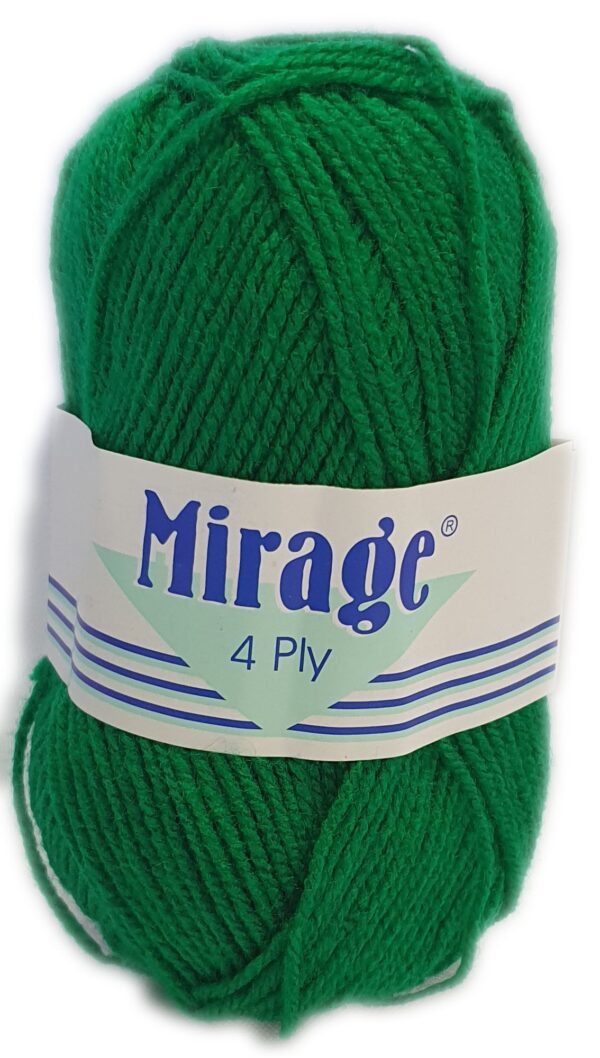 MIRAGE 4 PLY 25g-COL.022 EMERALD GREEN 1