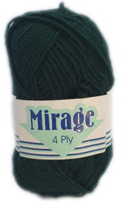 MIRAGE 4 PLY 25g-COL.024 BOTTLE GREEN 6
