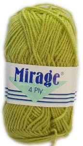 MIRAGE 4 PLY 25g-061 SOFT LIME 4