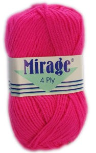 MIRAGE 4 PLY 25g-COL.146 CERISE PINK 4