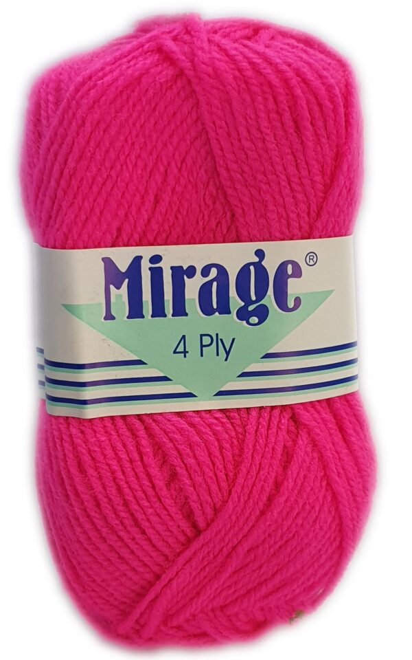 MIRAGE 4 PLY 25g-COL.146 CERISE PINK 1