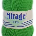 MIRAGE 4 PLY 25g-COL.022 EMERALD GREEN 2