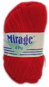 MIRAGE 4 PLY 25g-COL.169 CHERRY RED 4