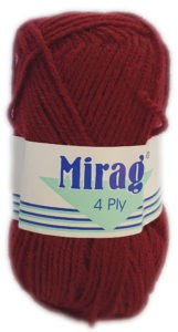 MIRAGE 4 PLY 25g-COL.018 MAROON 4