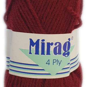 MIRAGE 4 PLY 25g-COL.018 MAROON 11