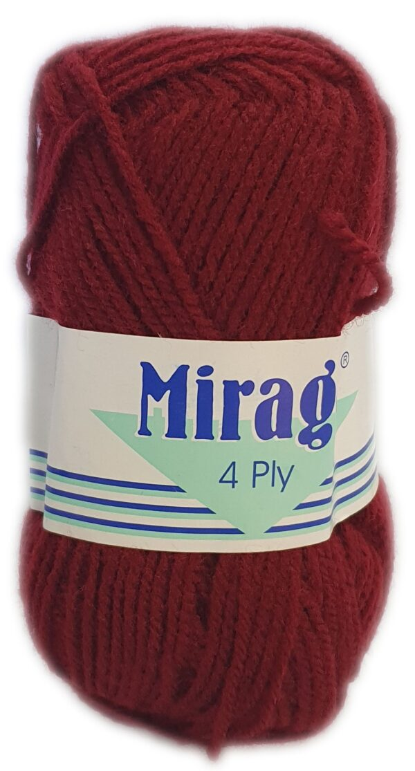 MIRAGE 4 PLY 25g-COL.018 MAROON 1