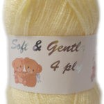 SOFT & GENTLE 4 PLY 50g-COL.BB4 OPTICAL WHITE 2