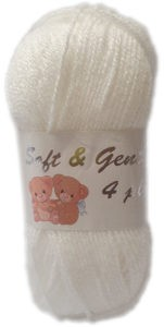 SOFT & GENTLE 4 PLY 50g-COL.BB4 OPTICAL WHITE 4