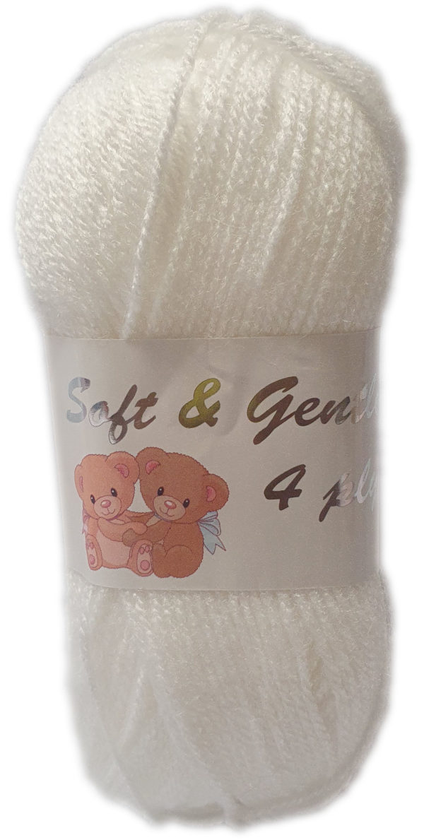 SOFT & GENTLE 4 PLY 50g-COL.BB4 OPTICAL WHITE 1