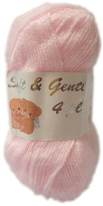 SOFT & GENTLE 4 PLY 50g-COL.BB6 PALE PINK 4