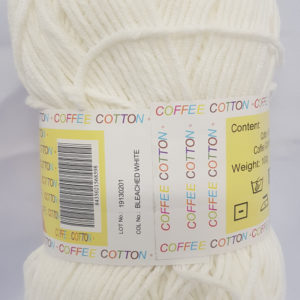 COFFEE COTTON D.K 100g-COL.BLEACHED WHITE 12
