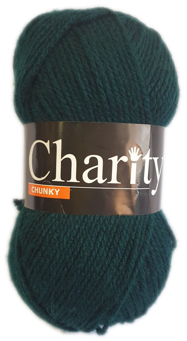 CHARITY CHUNKY 100g-COL.024 BOTTLE GREEN 1
