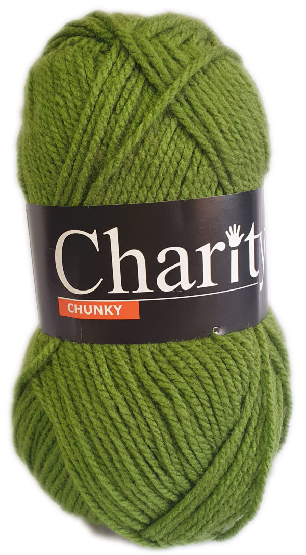 CHARITY CHUNKY 100g-COL.062 OLIVE 1