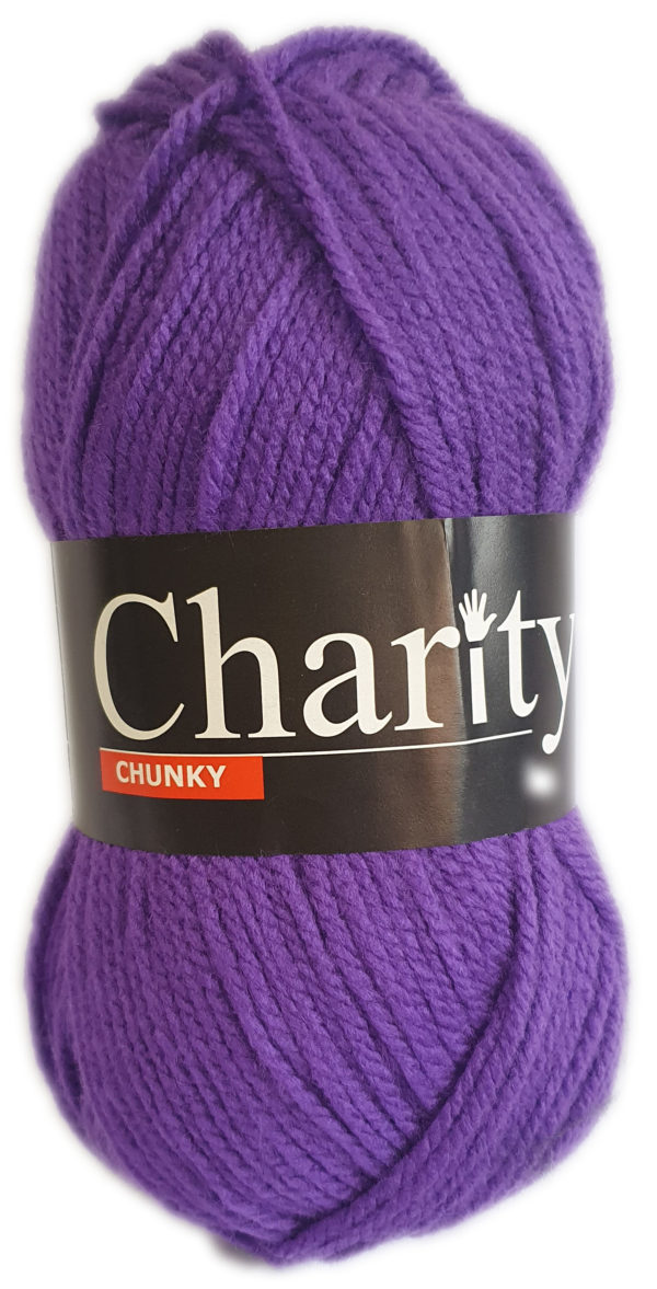 CHARITY CHUNKY 100g-COL.064 VIOLET 1