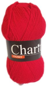 CHARITY CHUNKY 100g-COL.169 CHERRY RED 4