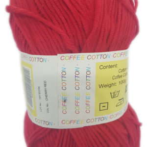 COFFEE COTTON D.K 100g-COL.CHERRY RED 8