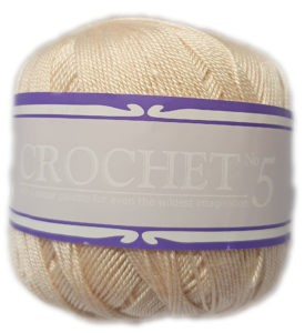 CROCHET No.5 50g-COL.014 CREAM 4