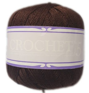 CROCHET No.5 50g-COL.044 BROWN 4