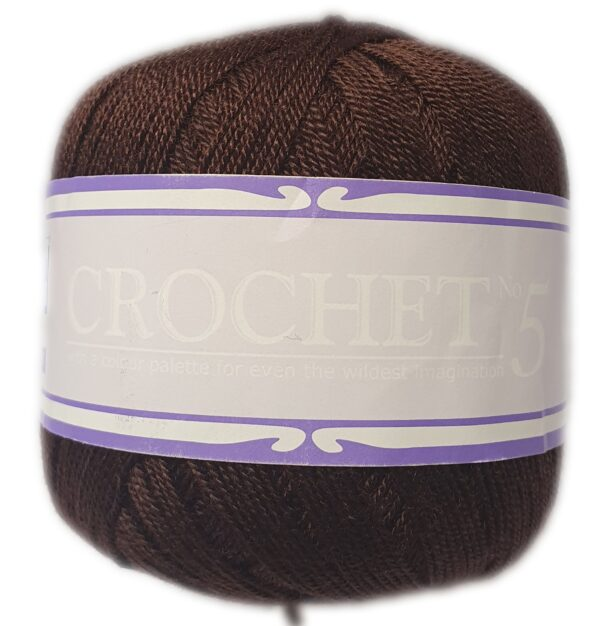 CROCHET No.5 50g-COL.044 BROWN 1