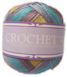 CROCHET No.5 100g-COL.704 LARKSPUR 4