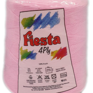 FIESTA 4 PLY CONE 500g-COL.004 PINK 4