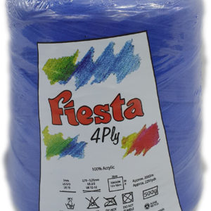 FIESTA 4 PLY CONE 500g-COL.008 ROYAL BLUE 5
