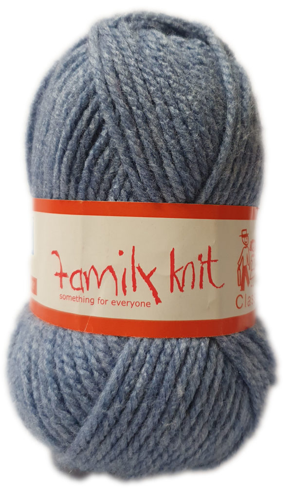 FAMILY KNIT CHUNKY 50g-COL.378 INDI BLUE 1