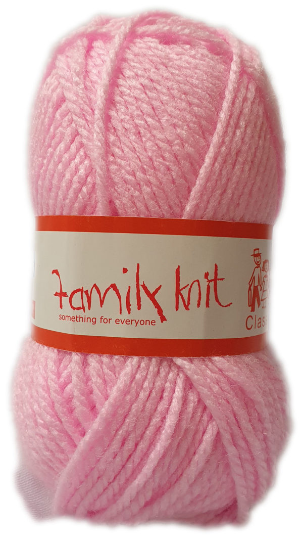 FAMILY KNIT CHUNKY 50g-COL.404 MELLOW PINK 1