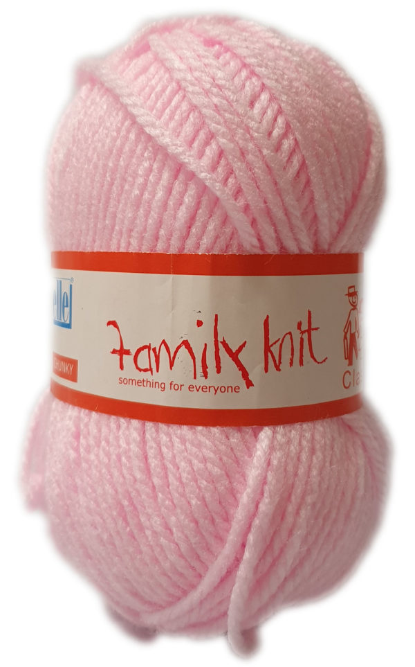 FAMILY KNIT CHUNKY 50g-COL.304 TOUCH OF PINK 1