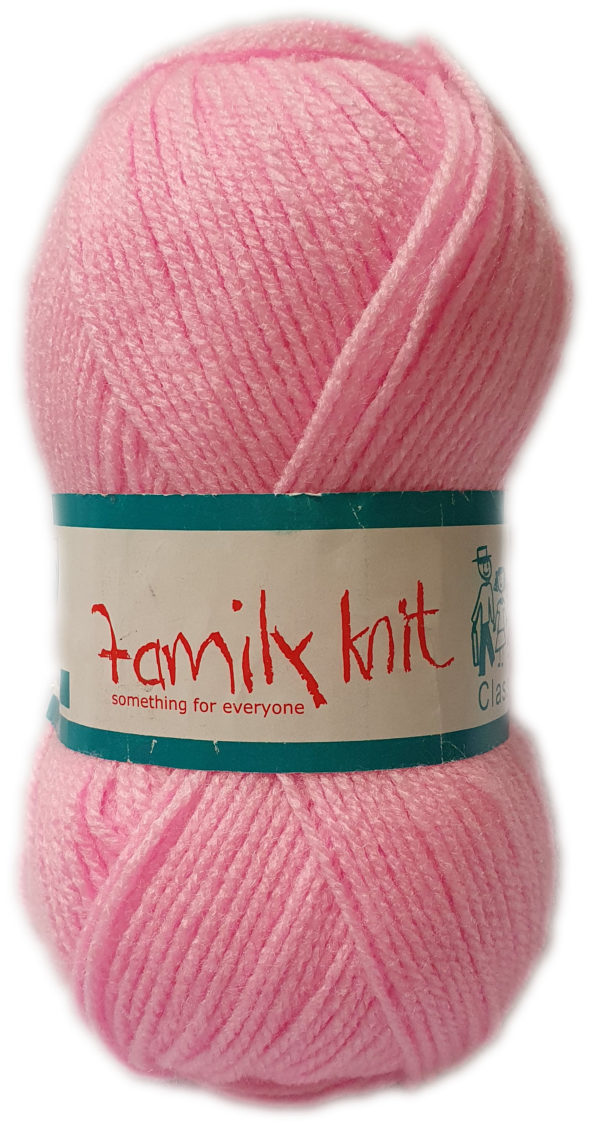FAMILY KNIT 4 PLY 50g-COL.004 JUST PINK 1