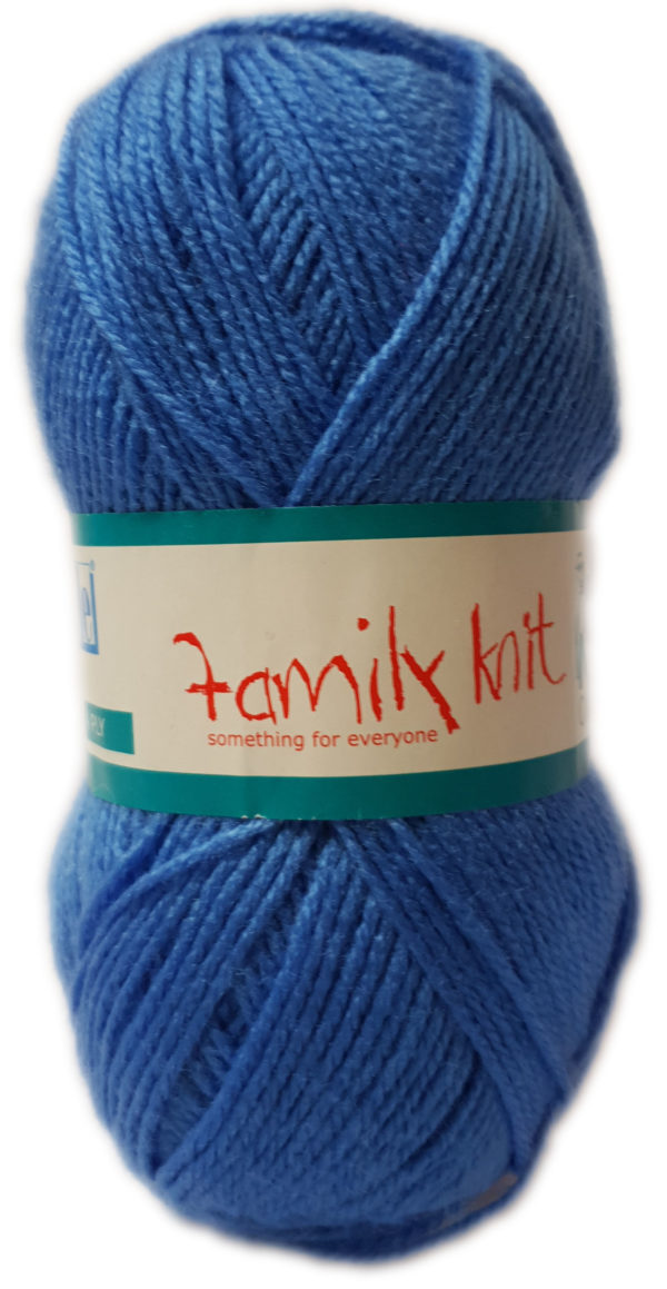 FAMILY KNIT 4 PLY 50g-COL.058 SAXE BLUE 1