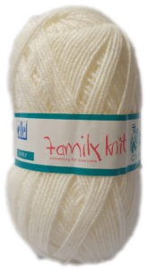 FAMILY KNIT 4 PLY 50g-COL.105 PORCELAIN 4